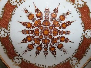 Vintage Austrian Mid Century Modern Copper Enamel Plate Pin Tray Brown Gold 5