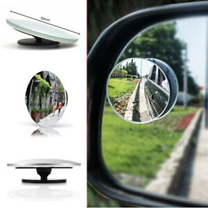 Car Rear View Mirror Hd 360 Rotating Adjustable Wide Angle Convex Blind Spot