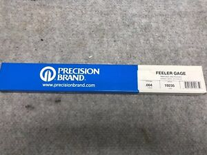 Lot Of 2 Feeler Gauge 0 004 x12 Long 12 Pack Precision Brand 24 Total