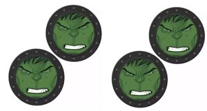 X4 Marvel Avengers Hulk Auto Car Truck Vehicle Cup Drink Holder Coasters
