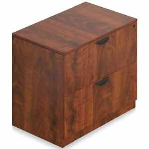 Offices To Go 2 Drawer Lateral File With Lock In American Dark Cherry