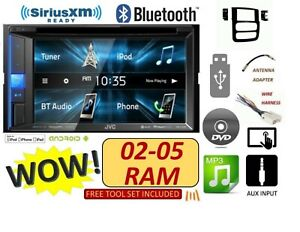 02 03 04 05 Dodge Ram Cd dvd Bluetooth Usb Jvc Stereo Radio