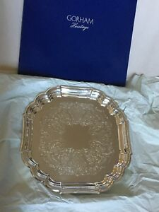 New Gorham Heritage Silver Plated 13 Platter Tray Huge Vintage Collection Rl