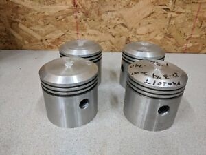 Lot Of 4 Ford Model T Car Aluminum Pistons Nos Or Aftermarket Parts