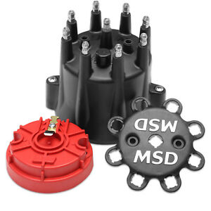 Msd Ignition 84336 Black V8 Hei Terminal Cap Rotor
