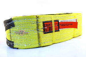 Ee2 904 X14ft Cut Slip Resistant Nylon Lifting Sling Strap 4 Inch 2 Ply 14 Foot