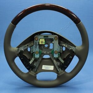 New Ford Oem Xw4a 3f563 cgw Gray Leather Wood Grain Steering Wheel