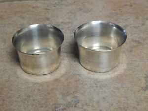 Vtg Sterling Silver Bobeches Pair For Candleholders Drip Cups