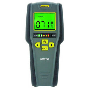 General Tools Mmd7np Moisture Meter W Tricolor Bar Graph Pinless