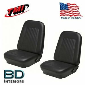 1967 68 Camaro Coupe Black Front Rear Seat Upholstery In Stock By Tmi