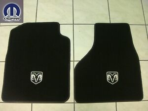 Dodge Ram 1500 2009 2012 Front Carpeted Floor Mats Black Color Set