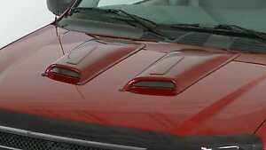 2 Piece Racing Accent Hood Scoops For 2005 Chevrolet Colorado Z71