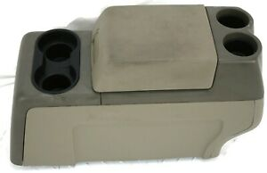 2004 2008 Ford F150 Floor Center Console Storage Cup Holder Brown Tan