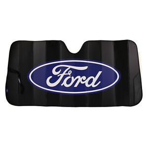 New Ford Black Car Truck Suv Van Front Windshield Accordion Folding Sun Shade