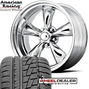 17x7 17x8 Polished Torq Thrust Vn515 Wheel Tire Package Ford Mustang 1965 1968