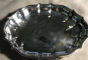 Antique Fb Rogers Silver Co 1883 Oval Silverplated Dish 670