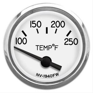New Vintage Usa 1940 Electrical Water Temperature Gauge 2 1 16 Dia 4012703