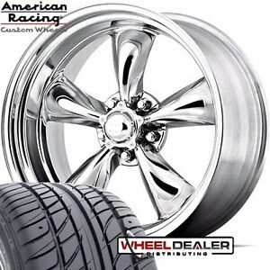 17x7 17x8 American Racing Torque Thrust Wheel Tire Package Camaro 1967 1968