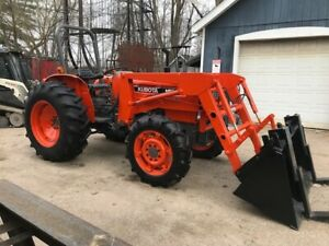 Kubota M5030su 4x4 Tractor With Loader For Sale Fwd Shuttle Utility Special