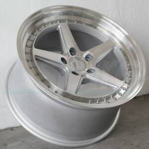 19x9 5 19x11 Silver Wheels Aodhan Ds05 Ds5 5x114 3 22 15 Set Of 4