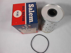 Vtg Salem Nos P 141 Oil Filter Cartridge W Gasket V8 Chevy Pontiac Gm Studebaker
