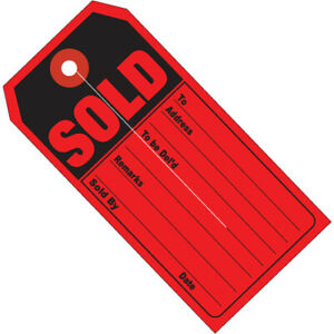 G26010 Red black 13 Point Cardstock 4 3 4 X 2 3 8 Sold Retail Tags Case Of 500