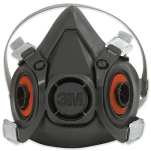 Ocs6300 Black 3m 6300 Half Face Respirator Large Made In Usa Case Of 24