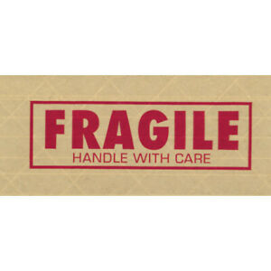 Fragile Tape Logic 7500 Pre printed Reinforced Water Activated Tape Case Of 10