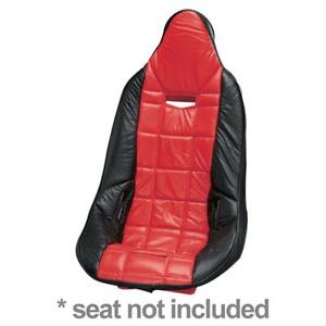 Summit Racing G1111b Seat Cover Poly Pro Red Black Vinyl Each