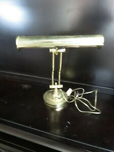 Vintage Double Articulated Brass Desk Lamp In Good Working Condition
