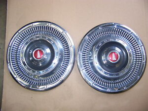 1966 Plymouth Belvedere 14 Hubcaps Oem 2