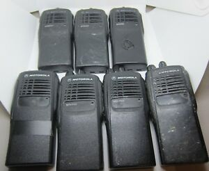 Lot Of 7 Motorola Mtx950 896 902 Mhz Two way Portable Radio 16ch Aah25wcc4gb3an