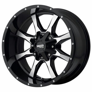 Moto Metal Mo970 22x12 8x165 1 Et 44 Gloss Black With Machined Face Qty Of 4