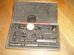 Vintage Starrett 711 last Word Indicator With Accessories 001 Usa