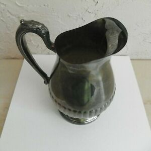 Towle Silverplate Pedestal Water Tea Lemonade Pitcher With Ice Lip