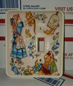Vintage 1978 American Tack Boy Girl Children Light Switch Plate Holly Hobby