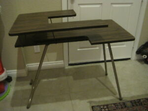 Mid Century Vintage Sewing Table Dorm Computer Writing Tier Folding Legs Portabl