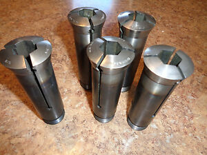 Davenport Hardinge Collets O s 5 8 Hex Set Of Five