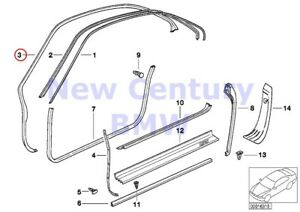 Bmw Genuine Edge Protection coverings Rockers Gasket Left E31