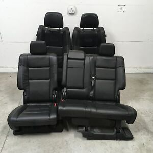 2014 Jeep Grand Cherokee Overland Seats Front Rear Left Right Black Leather Oem
