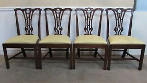 Kittinger Mahogany Dining Chairs Set Of Four Colonial Williamsburg Cw