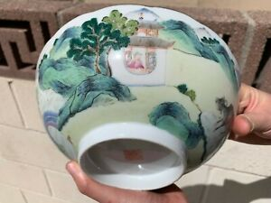 Estate Collection Chinese Antique Qing Dynasty 17th Porcelain Bowl With Daoguang