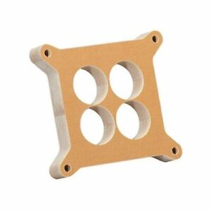 Summit Racing Carburetor Spacer 4 Barrel Square Bore 1 Phenolic 4 Hole G1404
