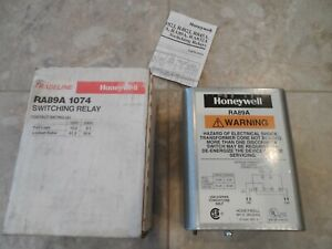 Honeywell Tradeline Ra89a 1074 Switching Relay