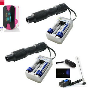 2xhandheld Led Cold Light Source Endoscope 9w Connetctor Fit For Stryker Health