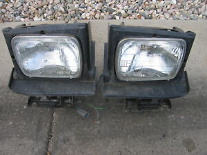 86 87 88 Pontiac Fiero Left Right Driver Side Headlight With Motor Tested