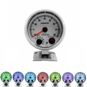 3 75 7 Colors Led Car Tachometer Gauge Shift Light Racing 0 8000 Rpm Meter