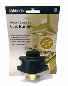 Woods Power Adapter For Gas Range Converts 220v To 110v Easily And Quickly