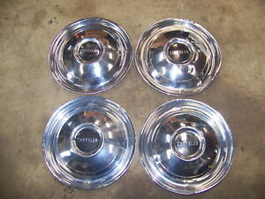 1950 Chrysler Windsor Royal Saratoga 15 Hubcaps Wheel Covers Oem Set Of 4