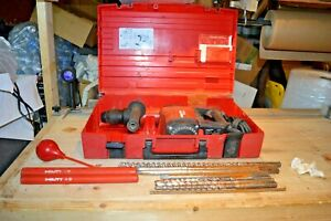 Hilti Te 75 Hammer Drill With 10 Bits And Case